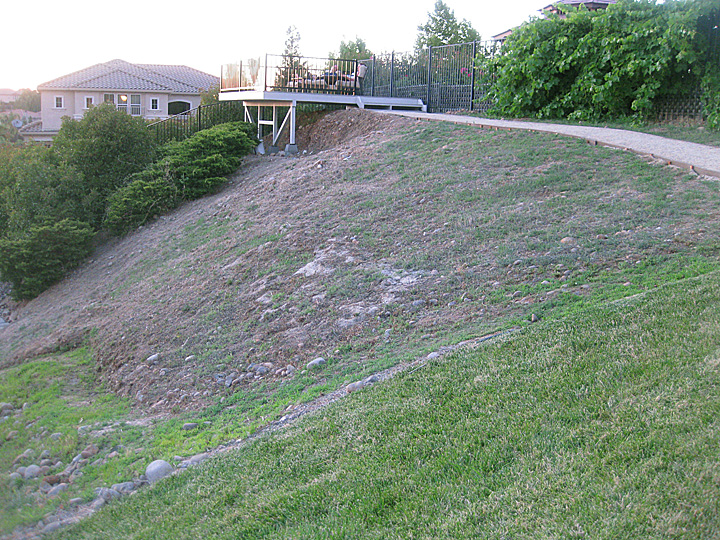 Landscaping Steep Hill